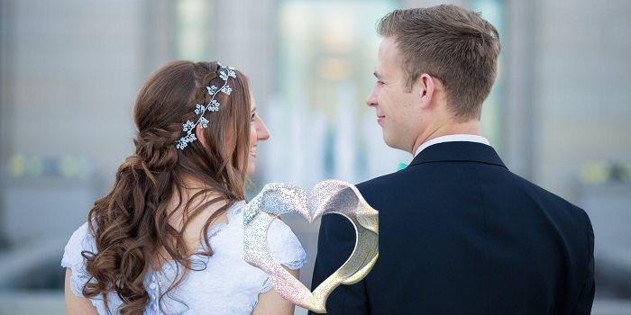 Foto de boda con figuras
