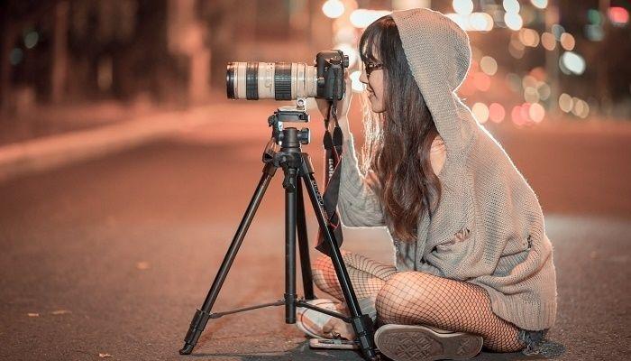 Trípode en fotos nocturnas