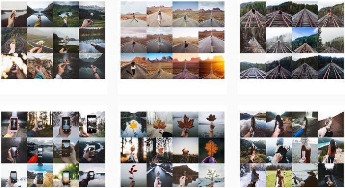 Cuenta en Instagram que muestra fotos repetidas