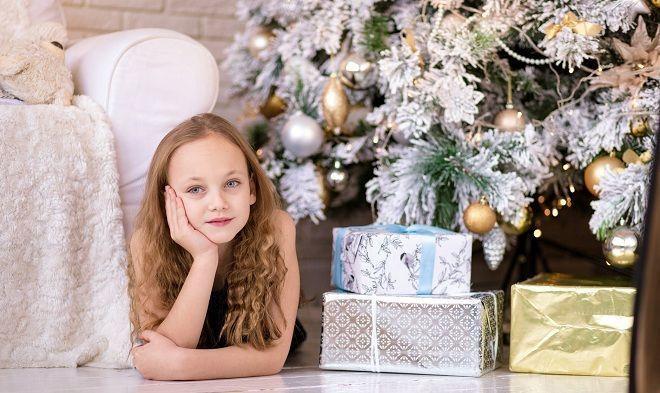 Sesión de fotos para niños en Navidad