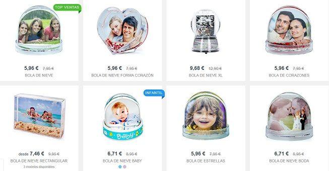 Bolas de nieve personalizadas