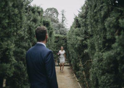 Postboda de Roberto y Estela en el laberinto de Horta