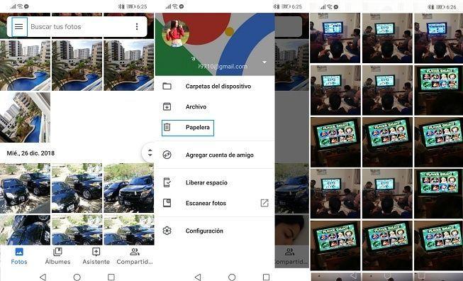 Recuperar fotos borradas en Google Fotos