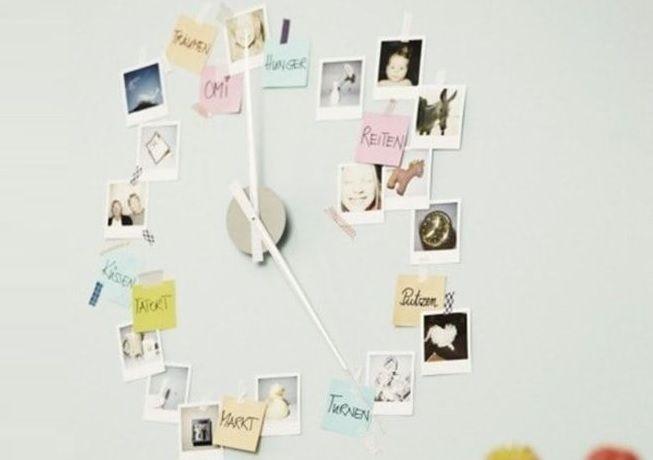 Fotos con diseño en forma de reloj