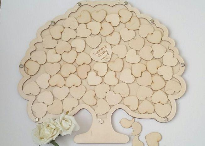 Libro de firmas de boda con forma de arbol