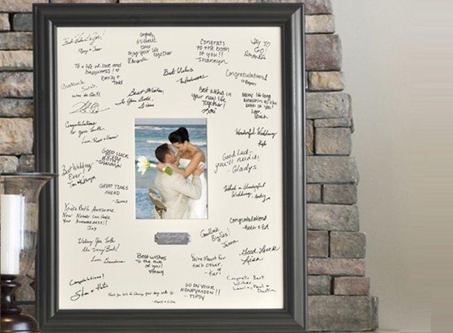 Marco como libro de firma de boda