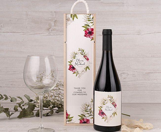 Caja para botella de vino